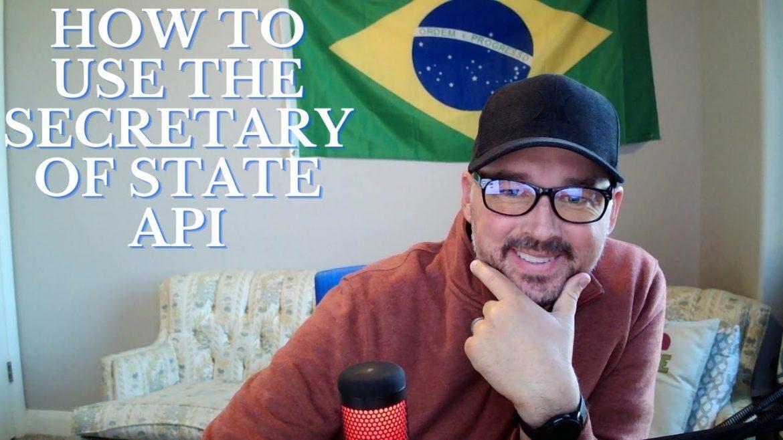 How to use the Secretary of State API