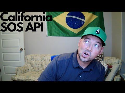 California Secretary of State business data via API