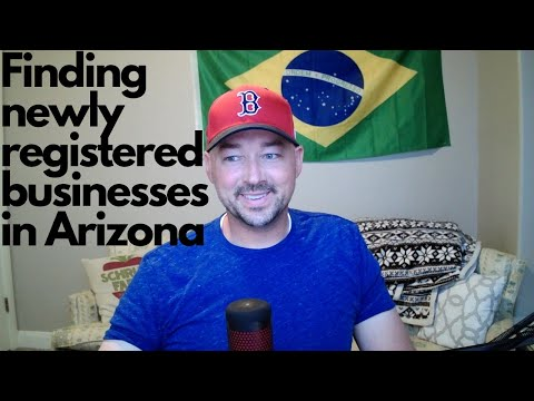 Finding newly registered businesses in Arizona