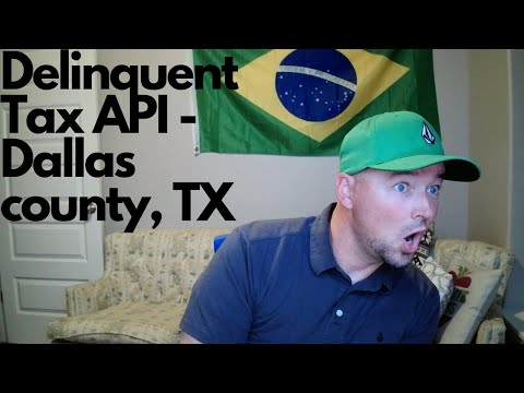 Using the SDK to search Dallas county, TX. Delinquent property tax api.
