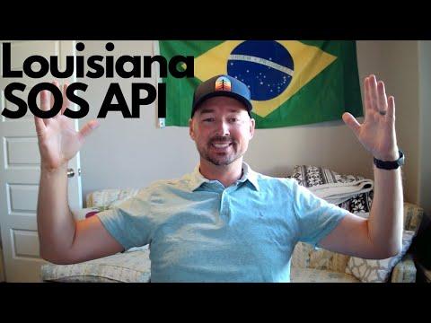 Louisiana Secretary of State business data via API
