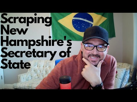 Web scraping the New Hampshire Secretary of State for business data