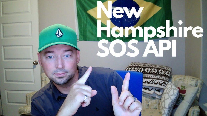 New Hampshire Secretary of State business data via API