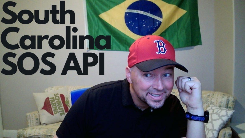South Carolina Secretary of State business data via API